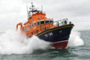 Newlyn's Penlee all weather lifeboat Ivan Ellen supports search...
